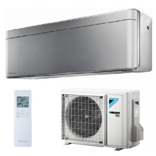 Aer conditionat Daikin Stylish Bluevolution FTXA35BS-RXA35A Inverter 12000 BTU Silver, clasa energetica A+++