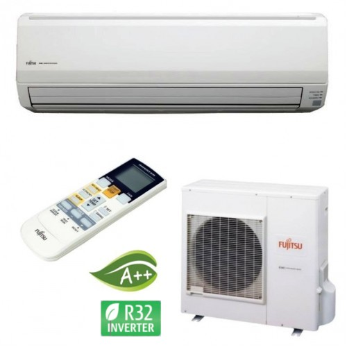 Aparat aer conditionat Fujitsu ASYG 24 KLCA – Inverter 24000 btu, freon R32