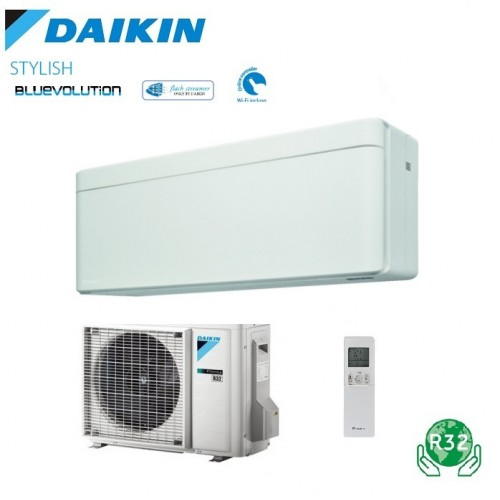 Aer conditionat Daikin Stylish Bluevolution FTXA25AW-RXA25A Inverter 9000 BTU alb. clasa energetica A+++